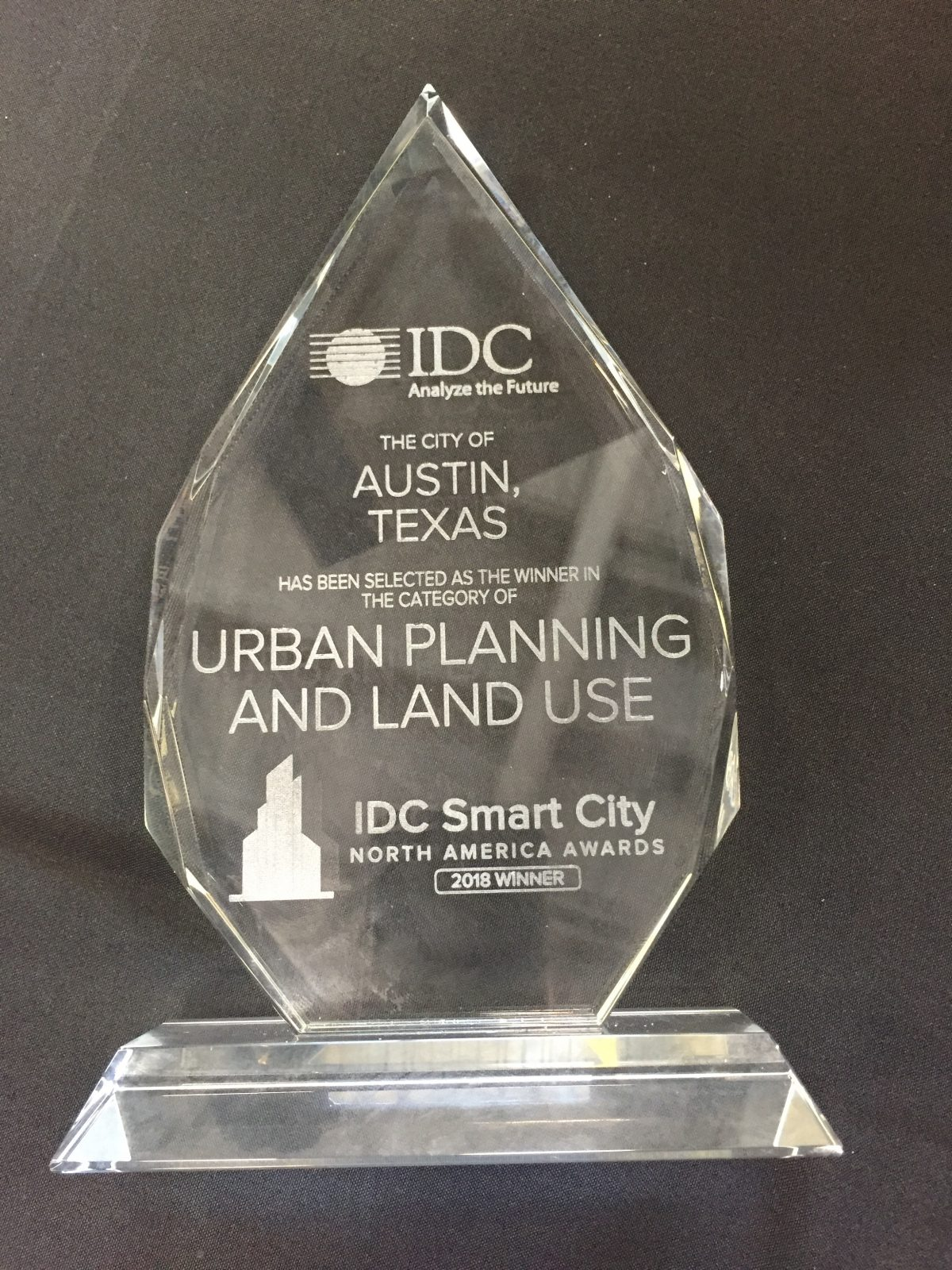 SYNDÉO & Austin, TX Accept 2018 Smart City North America Award